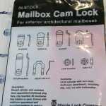 CCL MBL82011 Exterior Mailbox Cam Lock