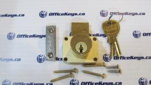 CompX National C8178 Drawer Lock Satin Brass