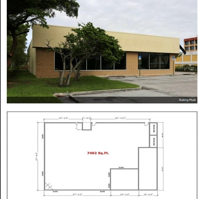 2021 Palm Beach Lakes Blvd, WPB Fl Retail Space For Sale 7402 sf