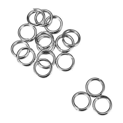 1″ 25mm Nickel Plated Silver Steel Round Edged Split