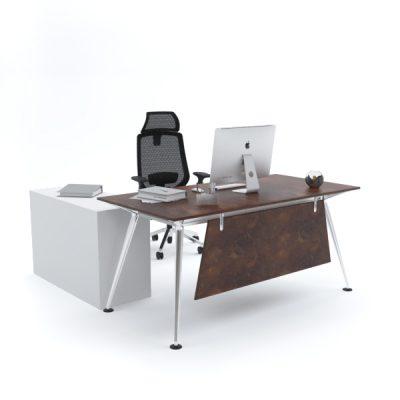 ELEGANTE Office Desk with Side Cabinet