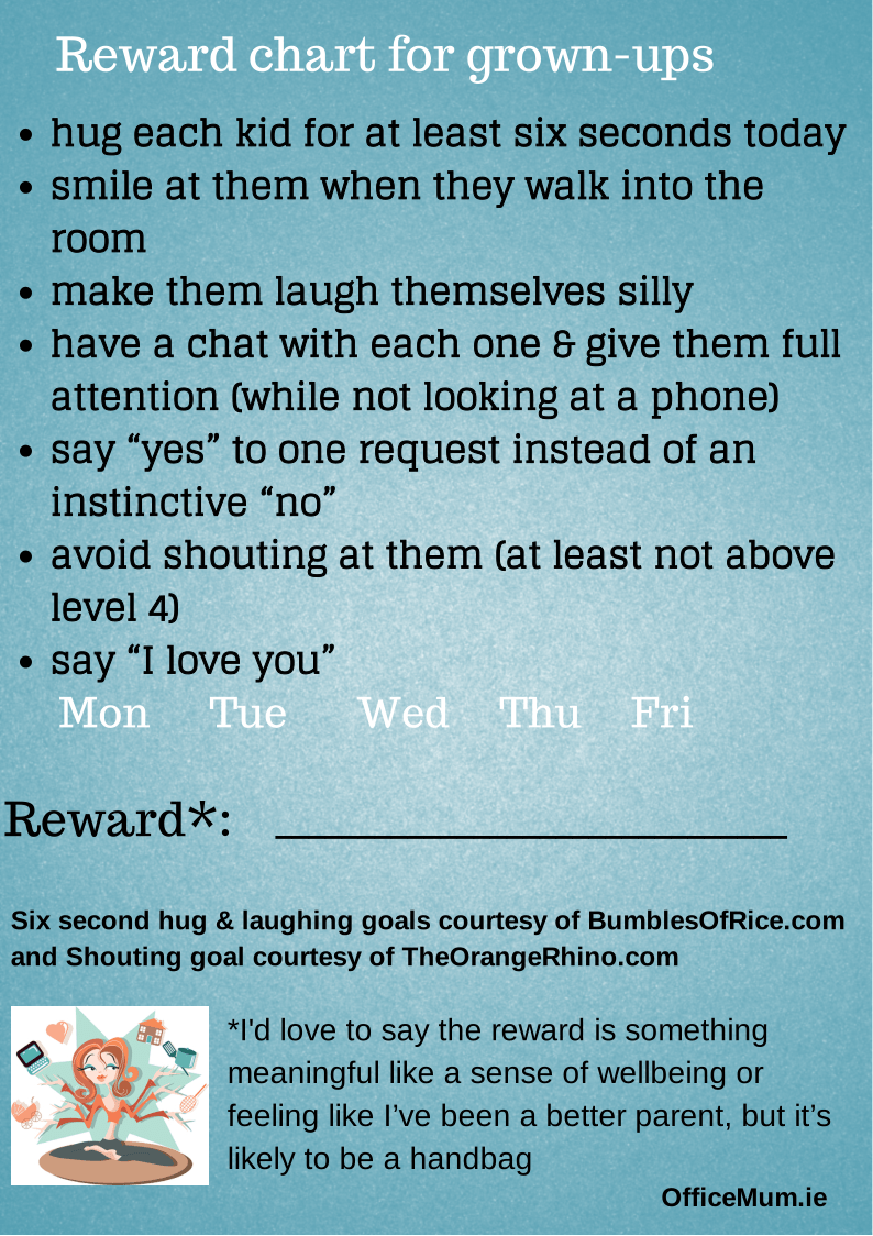 Office Mum reward chart
