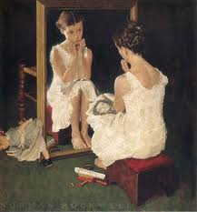 Girl at Mirror - Norman Rockwell (image credit ayay.co.uk)