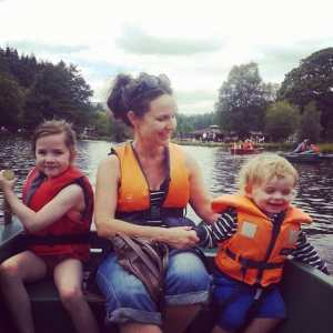 Office Mum photo: out on the water