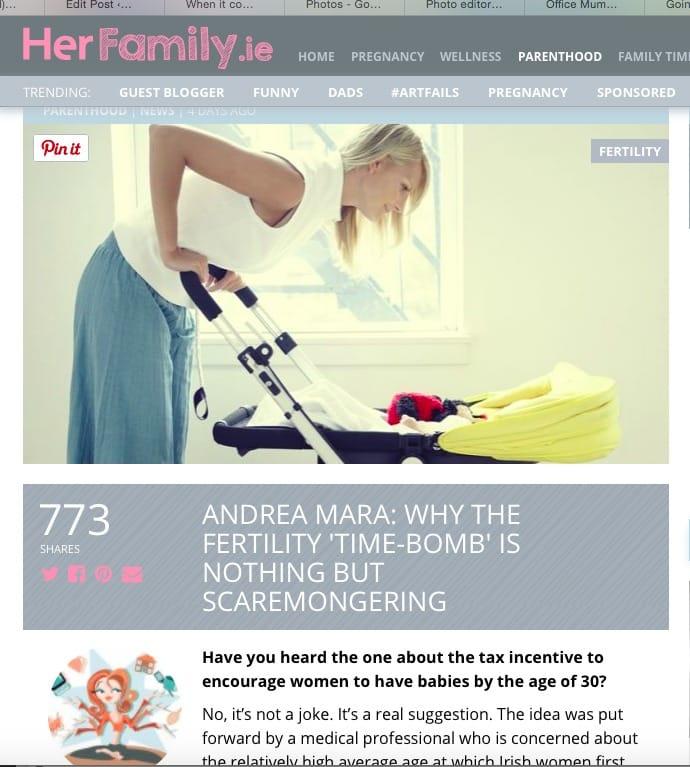 HerFamily Andrea Mara Fertility timebomb