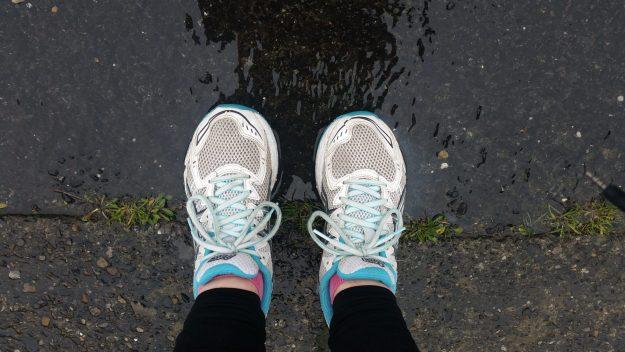 Running in the rain - Office Mum