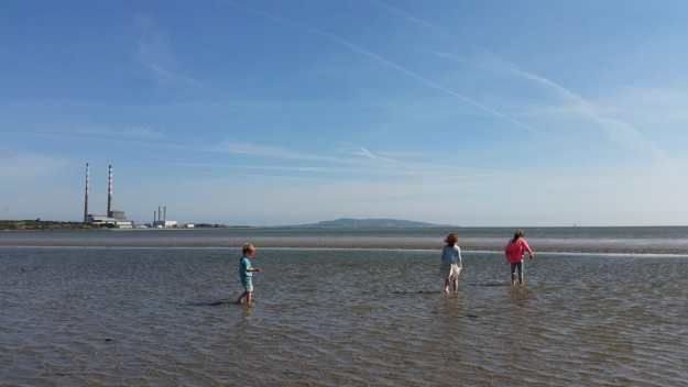 Poolbeg chimneys and Sandymount Strand - Office Mum