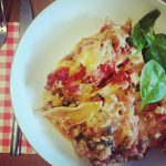 Spinach and sausage lasagne - office mum