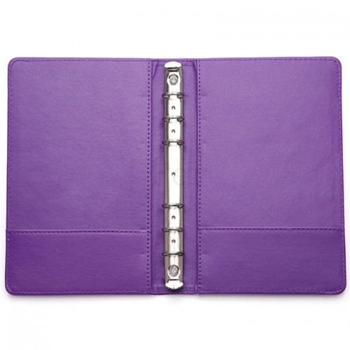 ASDA A5 Office Supplies Colorful Leather 6 Ring Binder