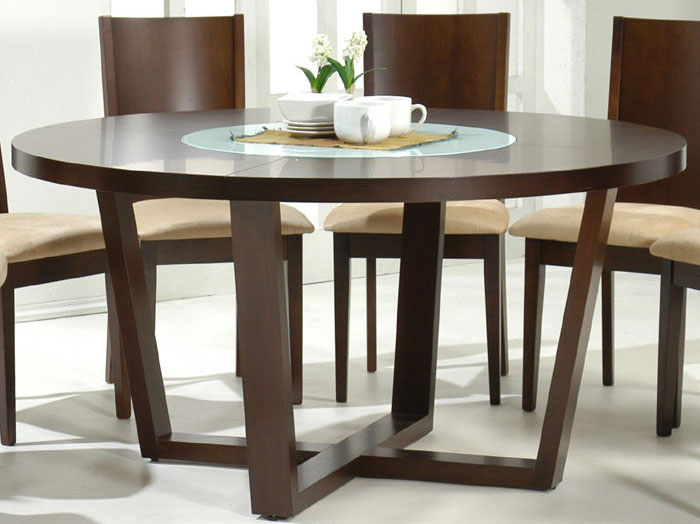 """DINING ROOM TABLE AND CHAIRS SET 60"""" Inch Round Modern"""