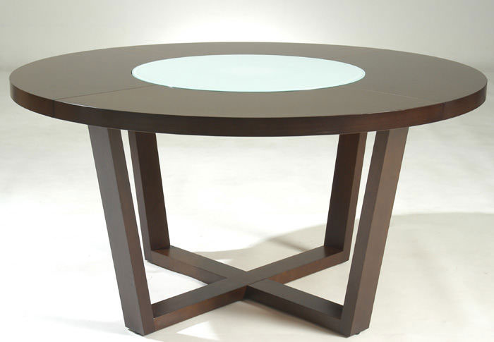 """Large Round Dining Table, 60"""" Modern Solid Wood"""