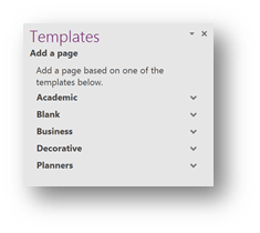 templates for onenote