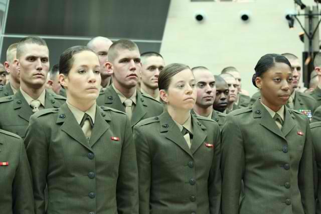 Marine corps dress blue rank placement