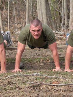 OCS Candidate doing pushups