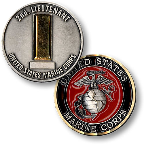 Second Lt Challenge Coin