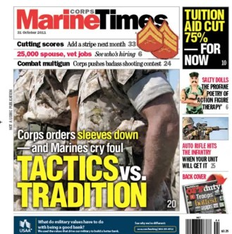 This is the original cover of the Marine Times 2.5 years ago