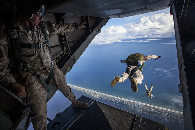 USMC parachute