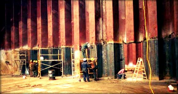 Cargo Tank Corrugated Bulkhead Damages of Double Hull