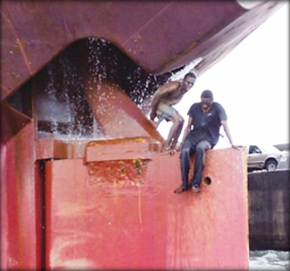 Use Of Rudder Trunk For Smuggling – Officer Of The Watch