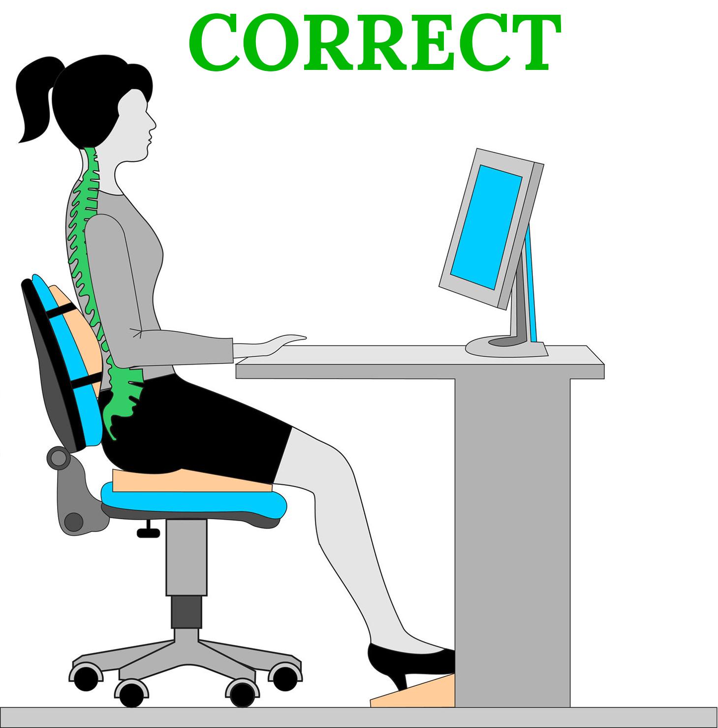 proper posture desk chair steel tube office furniture ergonomics officescene