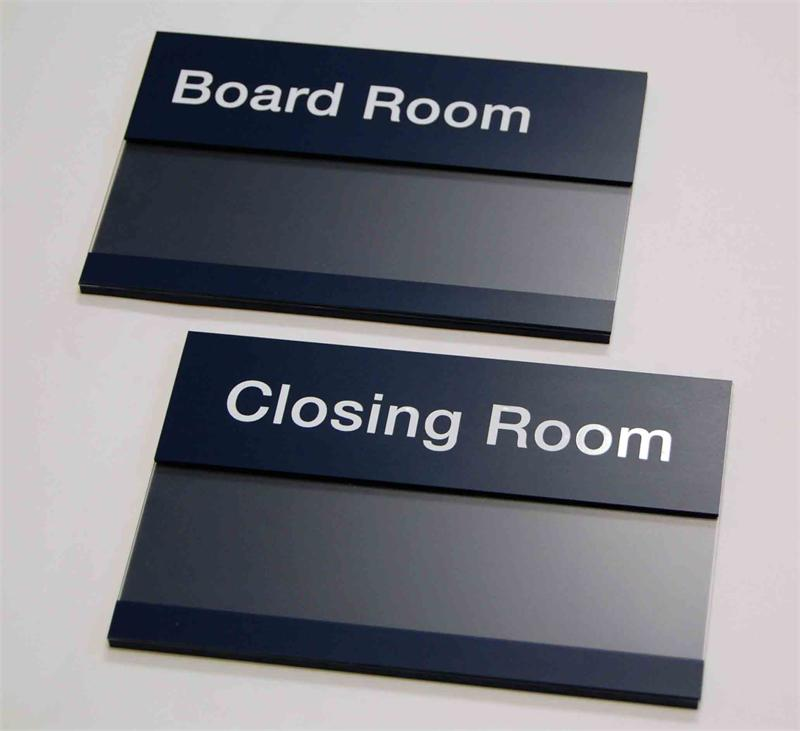Window Insert Office Signs  Employee Name Signs