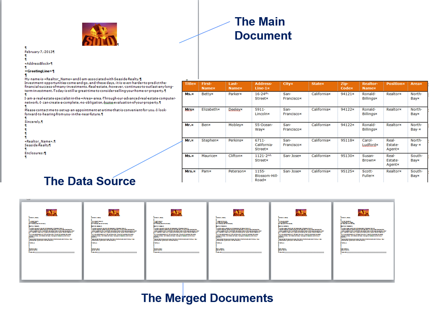 Mail Merge 8d Worksheet