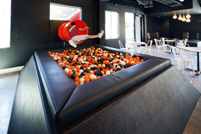 Check Out ISelects Office Complete With A Slide And