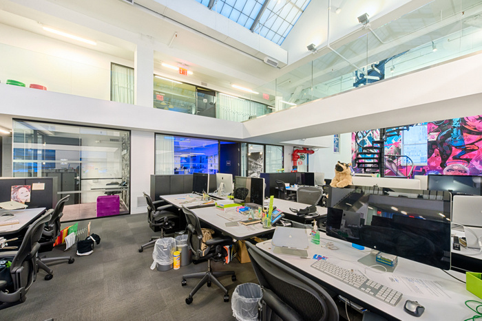 Inside Spotifys Colorful and Open NYC Offices  Office
