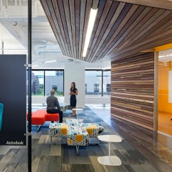 Eames Molded Wood Side Chair Dining Covers Set Of 4 Inside Autodesk's New San Francisco Offices - Office Snapshots