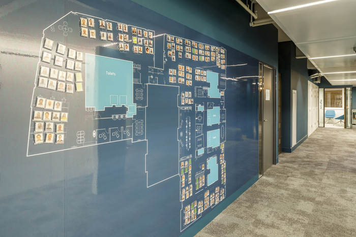 24 - Giant blueprint wall graphic of the whole office