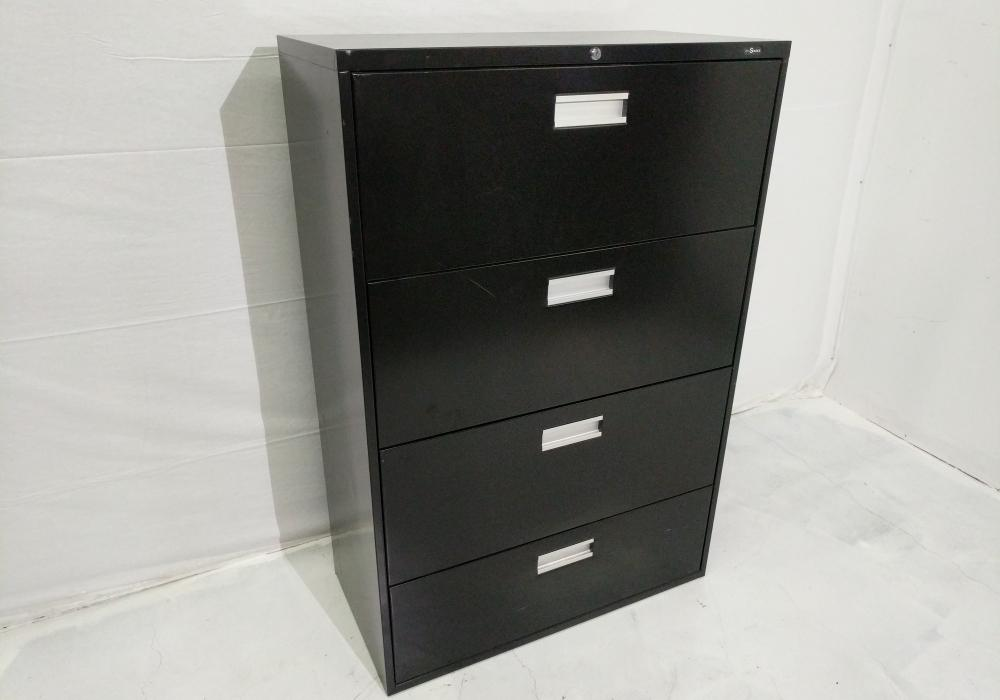 Black 4 Drawer Lateral File Cabinet  Toronto New  Used