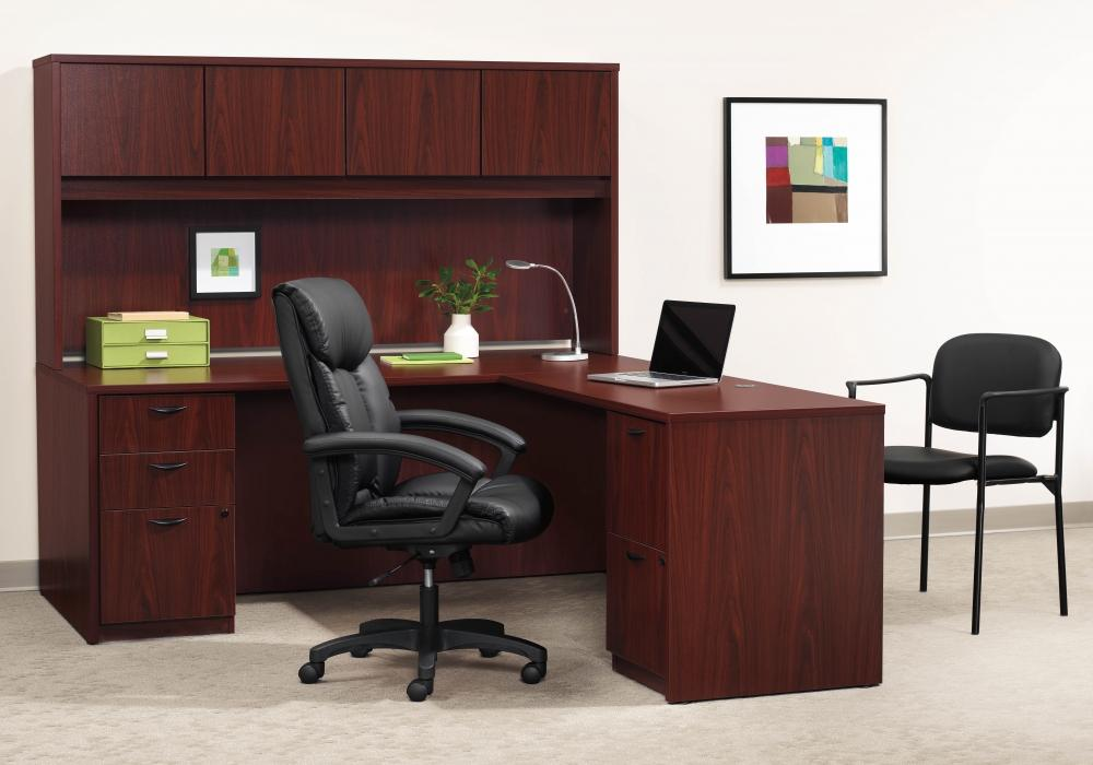 Basyx By HON L Shaped Desks With Hutch  Toronto New