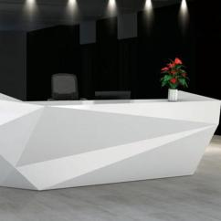 Counter High Chairs Ritter Dental Chair Parts Ultra Hg - High-gloss Geometric Reception Desk Toronto New & Used Office Furniture Officestock