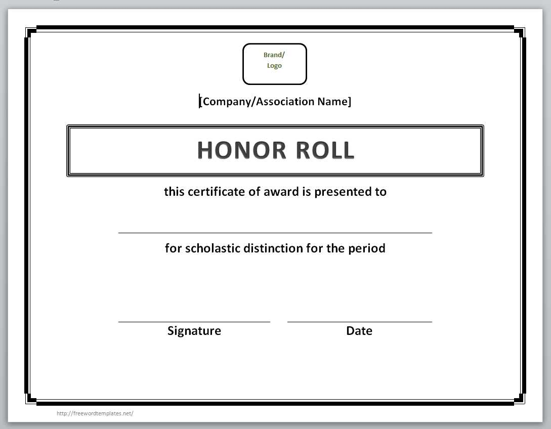 honor roll certificate template word professional resume cover honor roll certificate template word certificate templates buffalo public schools 13 certificate templates for word