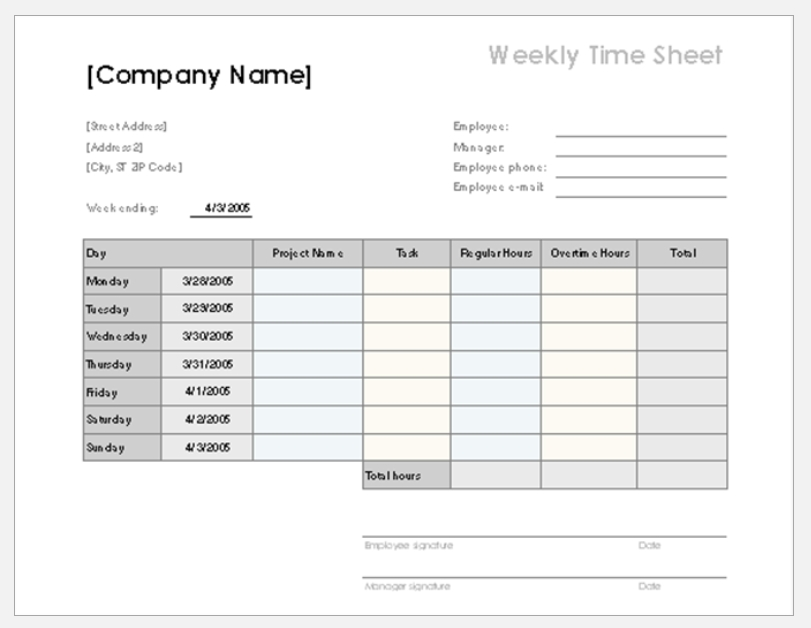 Employee Time Sheet Tracker