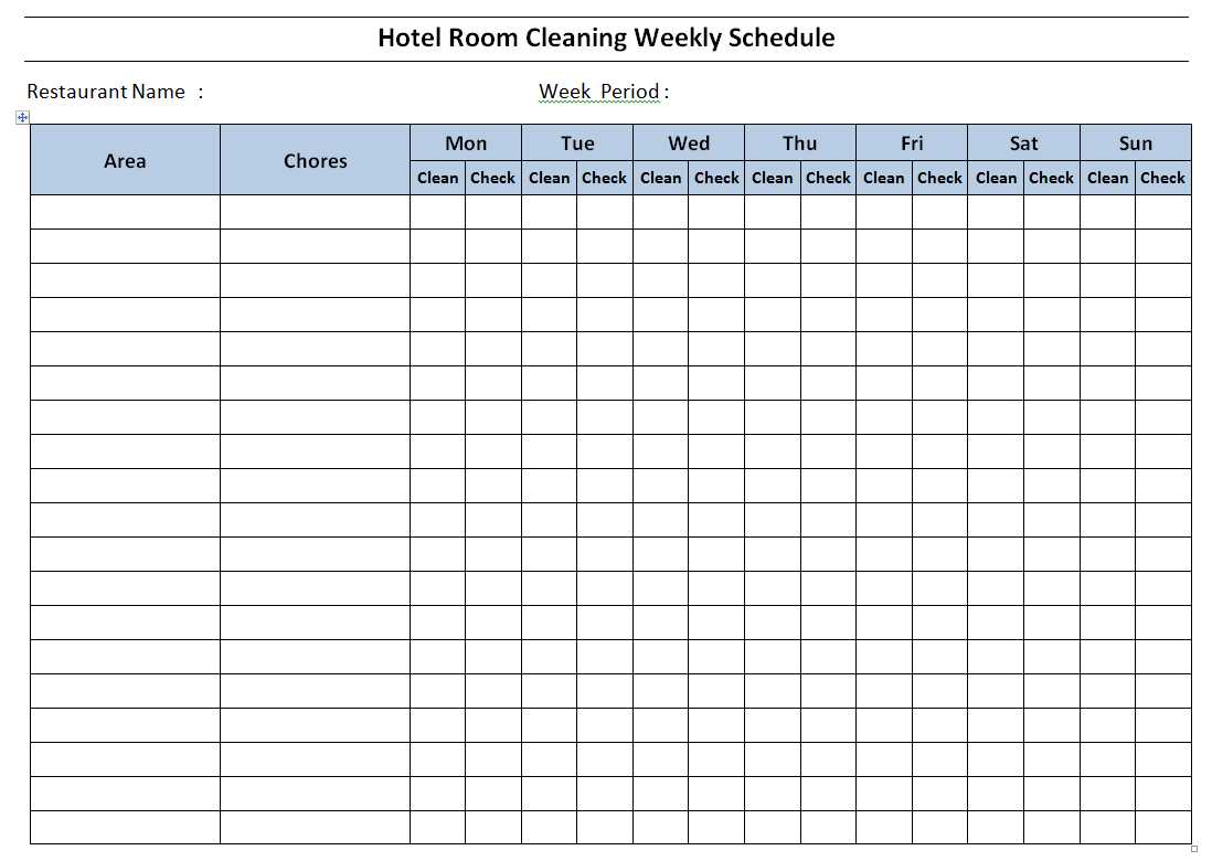 Download Hotel Staff Duty Roster Duty Chart Sample Format