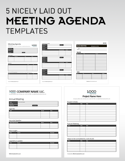 Microsoft word is an industry leader in word processing, and installing it on your computer after purchase is easy indeed. 5 Professional Meeting Agenda Templates Office Templates Online