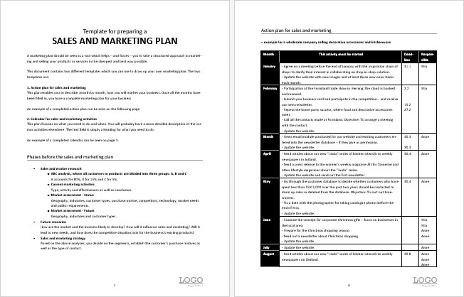 Download Sales and Marketing Action Plan Template