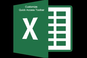 how to customize quick access toolbar