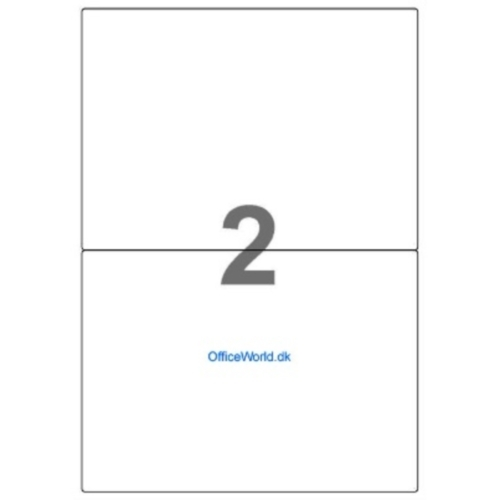 Etiketter ark A4 2x1 label ark (210 x 148,5mm)