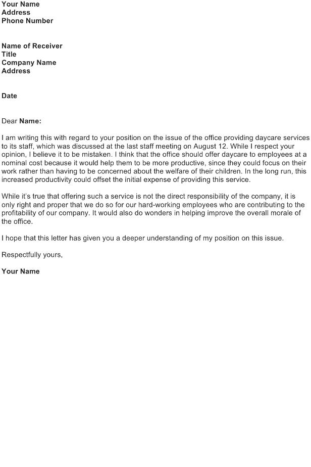 Disagreement Letter Sample Download FREE Business Letter