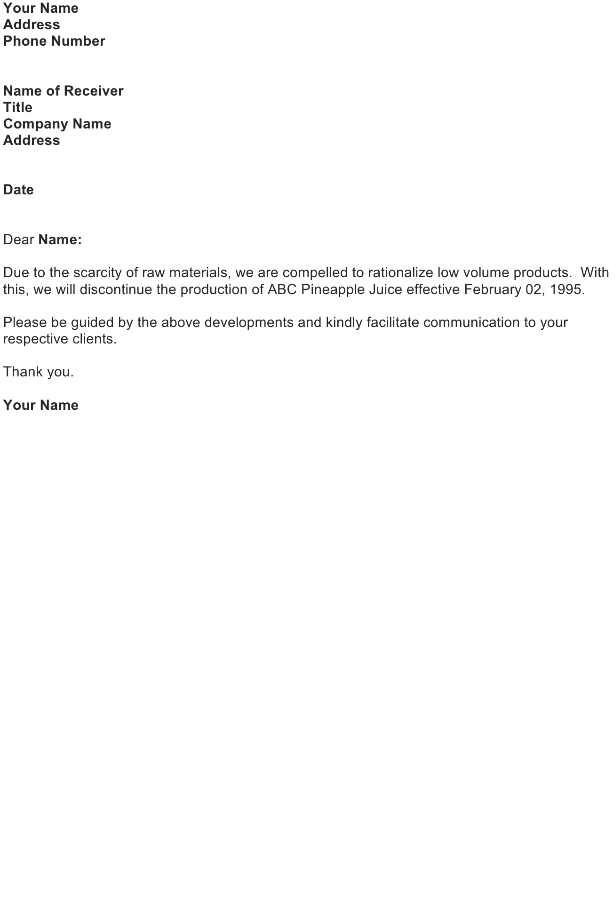 Customer Service Letter Sample Download FREE Business