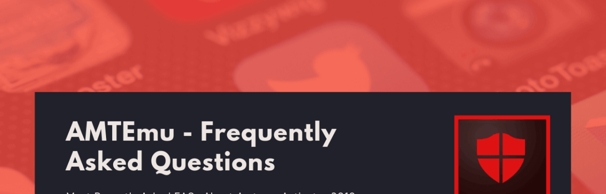 AMTEmu – Frequently Asked Questions (FAQs)