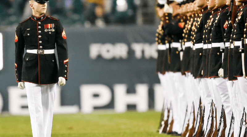 US MArine, NFL, protest, OAT, Barry Gipson