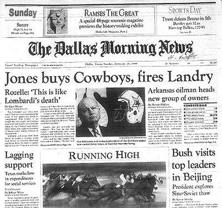 Jerry Jones, Tom Landry, Dez Bryant, Business