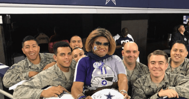 Cowboys fan personality, social media, military, veterans, Carolyn Price