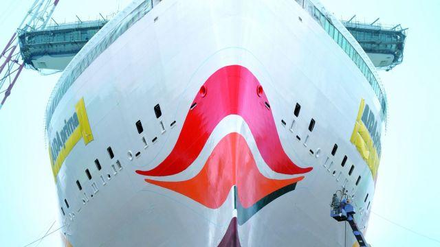AIDA Cruises AIDAprima bow cruiseship