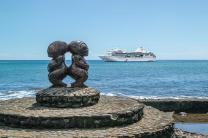 paul gauguin cruises cruise ship statues