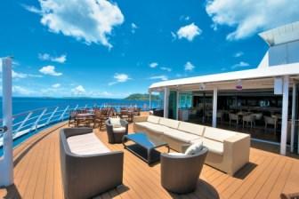 Paul Gauguin cruises cruise ship outdoor couches