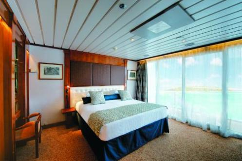 paul gauguin cruises cruise ship cabin bedroom